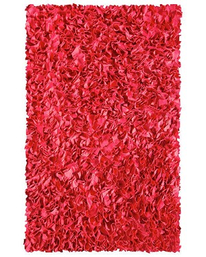 Shaggy Raggy Rug - Red