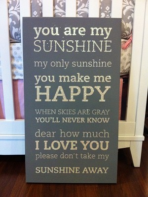 Twelve Timbers You are My Sunshine Wall Panel - Customizable!