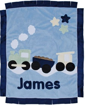 Personalized Train Blanket